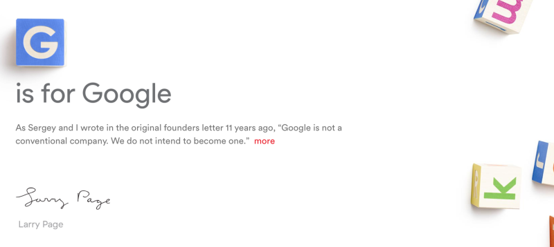 Spelling bee: Here's how Google is reorganizing its properties under Alphabet